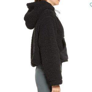 NWT Zella Cassie Faux Shearling Hoodie Sherpa